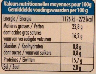 Salakis - Informazioni nutrizionali - de