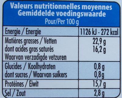 Natur Schafmilchkäse - Informations nutritionnelles - fr