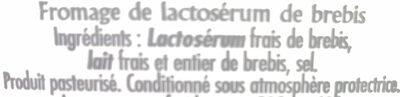 La Brousse - Ingredients - fr