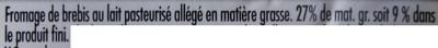 100 % Brebis Léger (9 % MG) - Ingrédients - fr