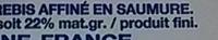 Fromage de Brebis (22% MG) - Voedigswaarden