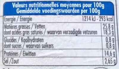 Feta Basilic - Informations nutritionnelles - fr