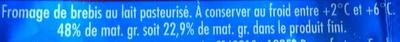 Salakis, 100% Brebis - Ingredients - fr