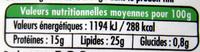 100 % Brebis Bio (25 % MG) - Nutrition facts - fr