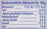 Feta -25% Salz - Informations nutritionnelles - de