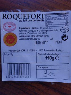 Roquefort au lait cru de brebis - Product - fr