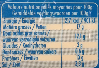 Croque & Burger (17% MG) - Nutrition facts - fr
