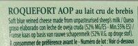 Roquefort Societe - Ingrédients - fr