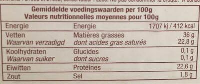 Pur brebis Pyrénées - Informations nutritionnelles - fr