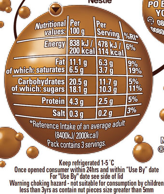 Aero Heavenly Salted Caramel Mousse and Pecan Nuts - Nutrition facts - en