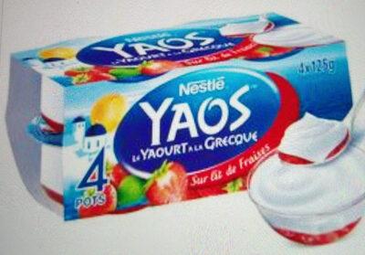 Le Yaourt à la Grecque Sur lit de fraise - Product