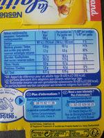 Velours de creme Chocolat au lait 340g - Nutrition facts