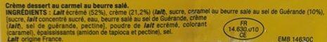 Velours de Crème Caramel - Ingrediënten - fr