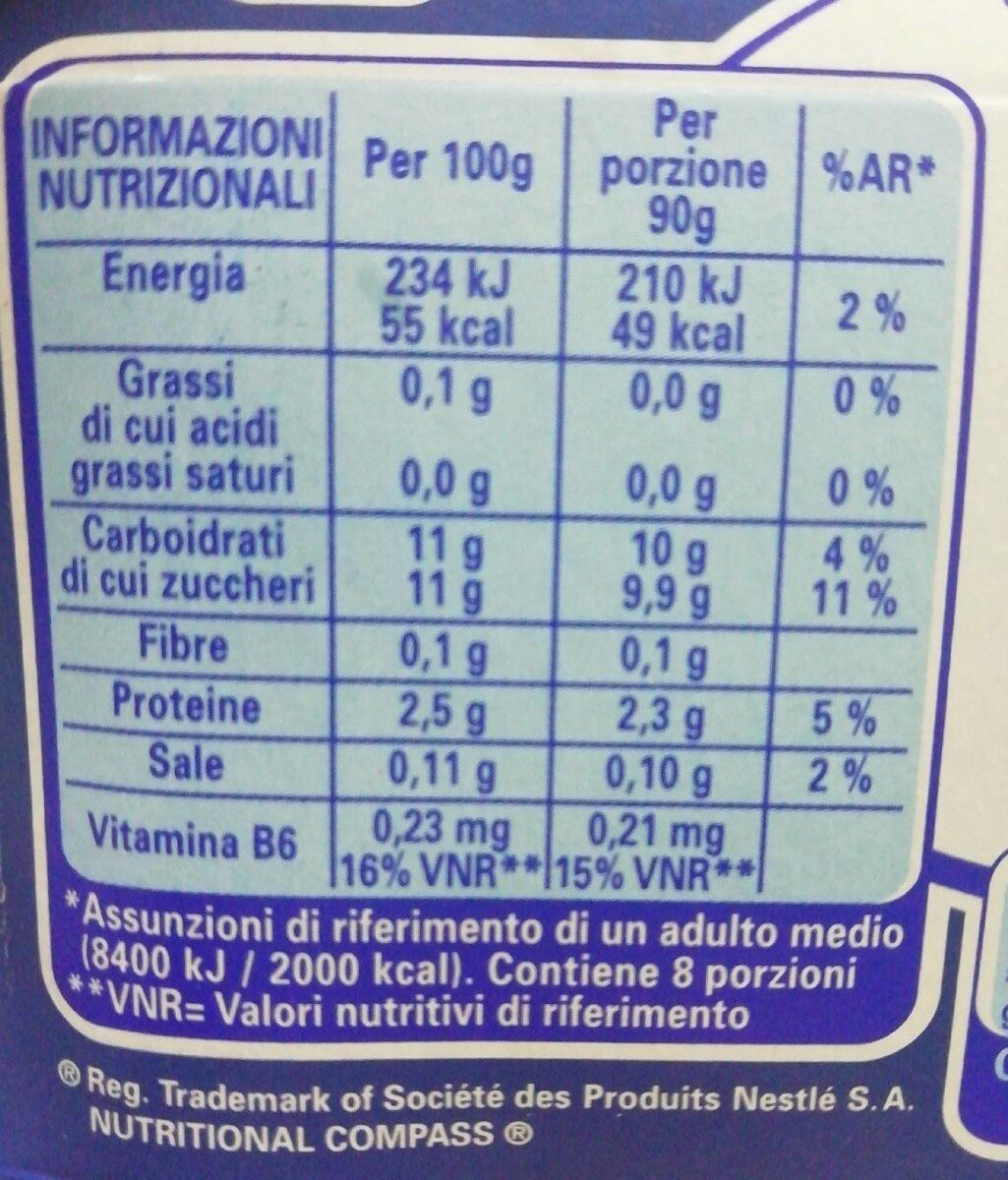 Nestlé LC1 Vital - Valori nutrizionali - it