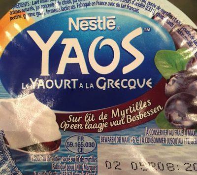Yaourt a la Grecque sur lit de Myrtilles - Product