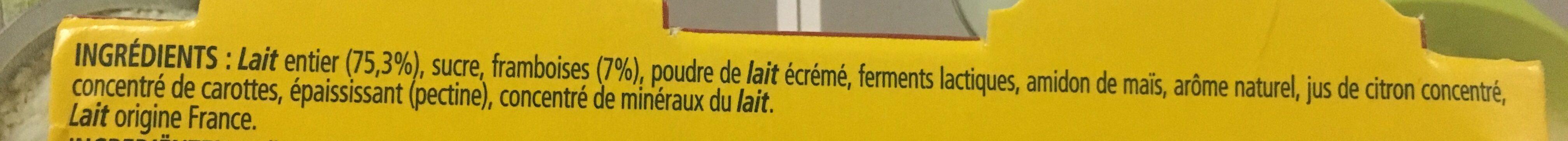 Le Yaourt sur Lit de Framboise - Ingredients - fr