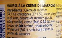 Maronsui's - Ingrédients