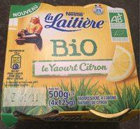 Le yaourt citron bio - Product