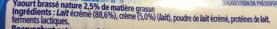 Yaos Yaourt à la Grecque - Ingredients