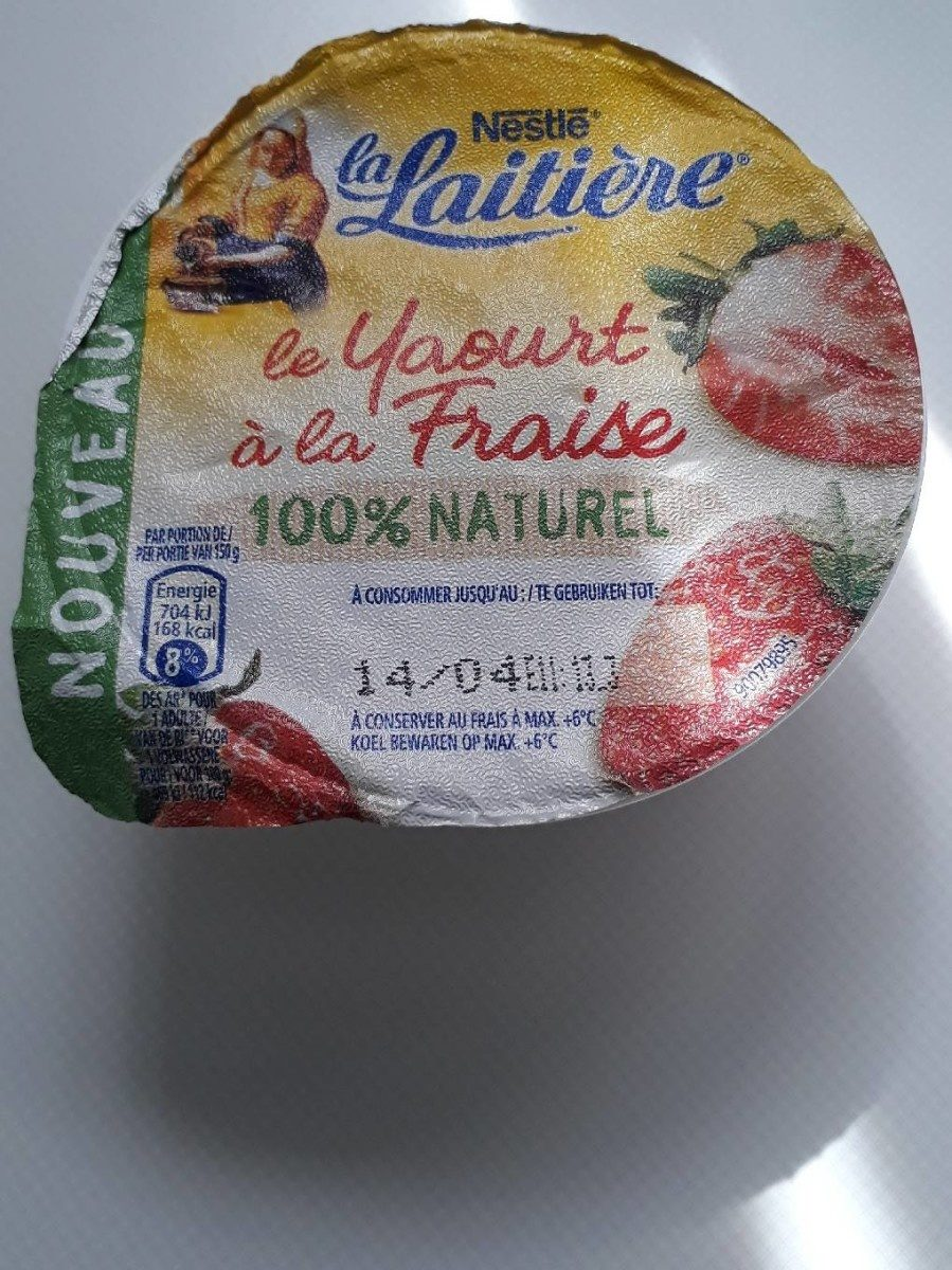 Llait. yogh. fraise Bio 150G - Product - fr