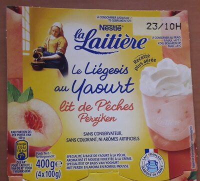 Le Liegeois au yaourt lit de pêches - Product