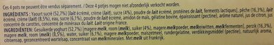 Le Liegeois au yaourt lit de pêches - Ingredients