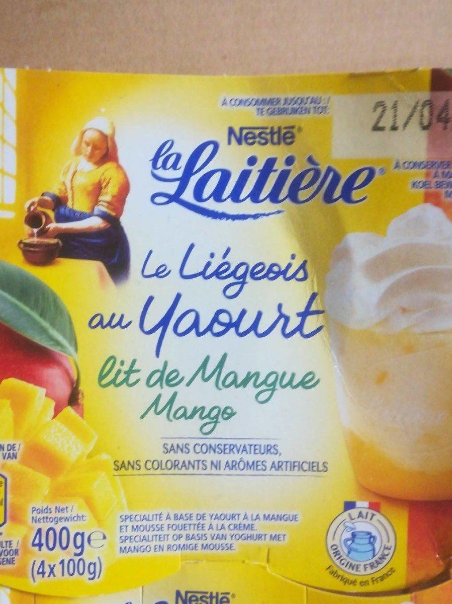 Le liégeois au yaourt lit de mangue - Product