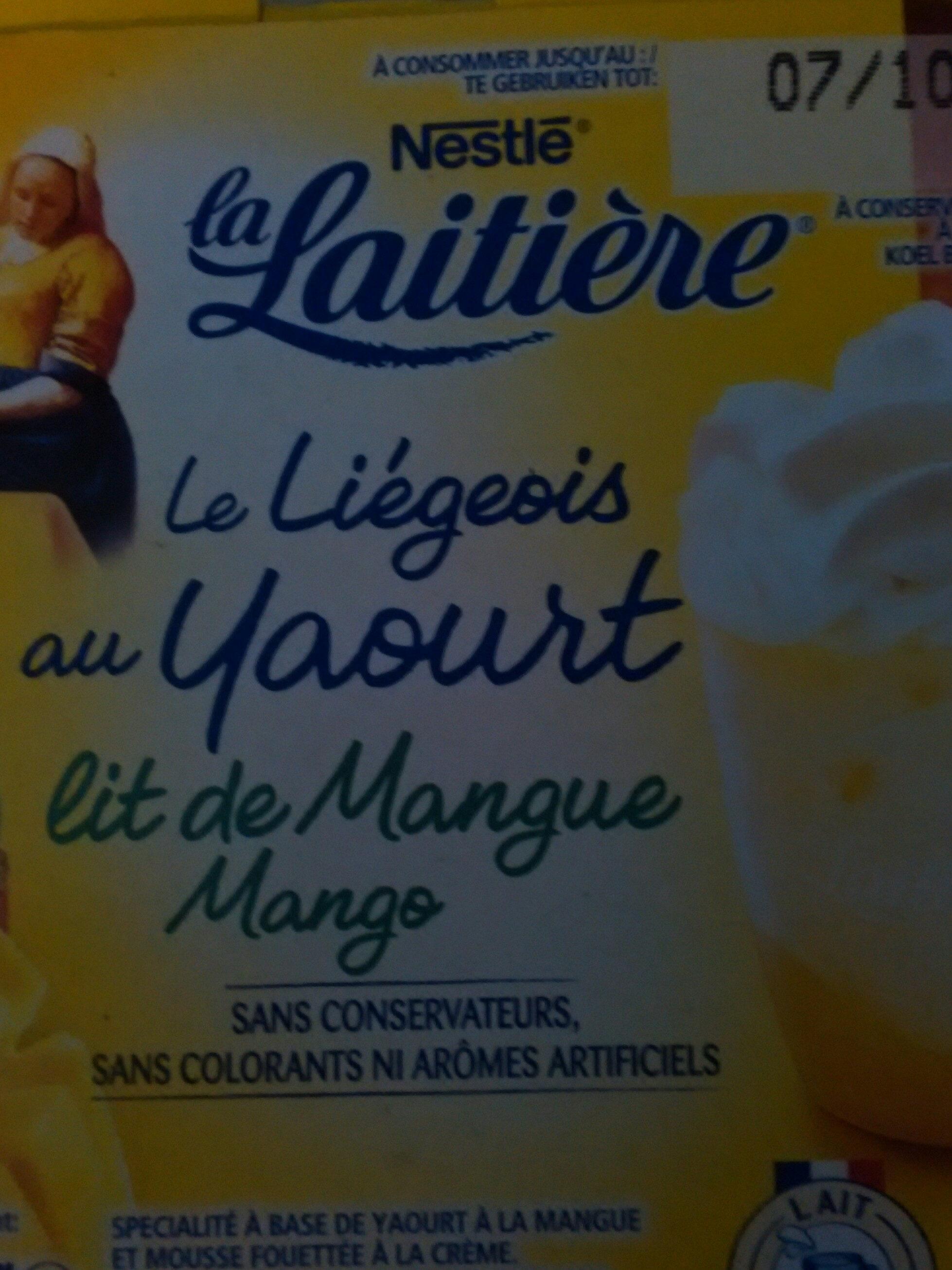 Le liégeois au yaourt lit de mangue - Voedingswaarden