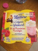 Le liégeois au yaourt, lit de framboises - Produit