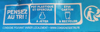 Yaos Le Yaourt à la Grecque stracciatella 500 g - Recycling instructions and/or packaging information - fr