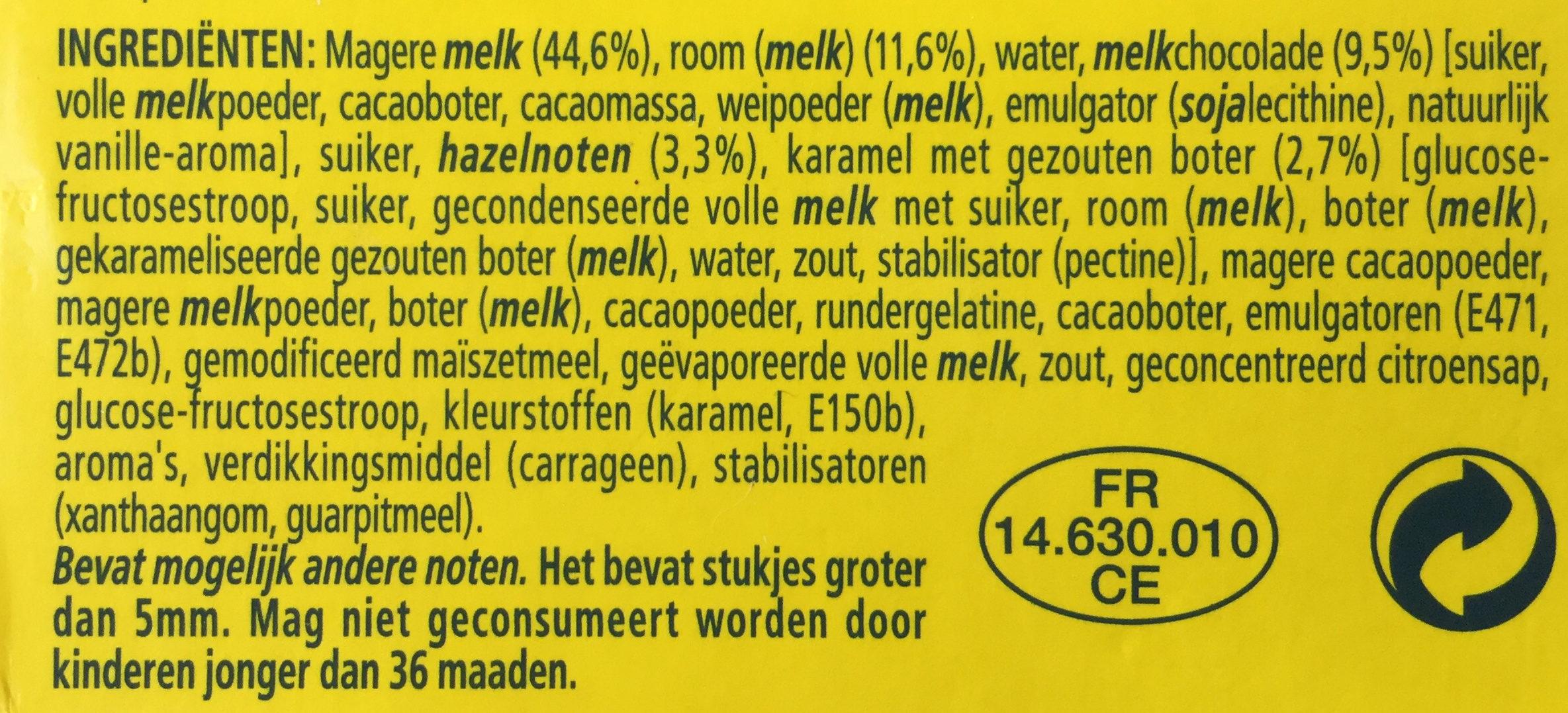 Tourbillon de mousse - Ingrediënten - nl