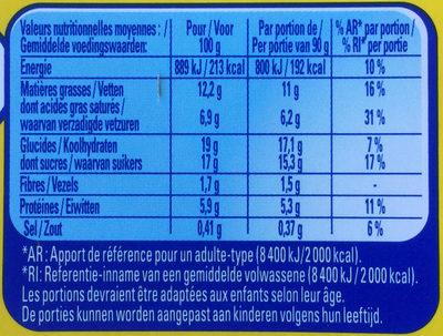 Tourbillon de mousse - Voedingswaarden - fr