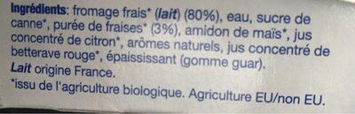 Yoco bio - Ingrediënten