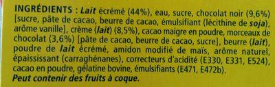 Tourbillon de mousse - Ingrediënten