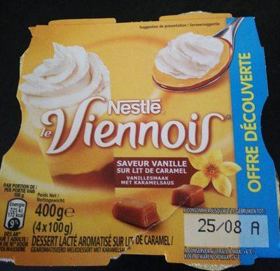 Viennois saveur vanille sur lit caramel - Produit - fr