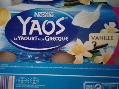 yaos vanille - Produit