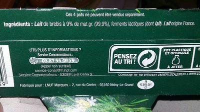 L'onctueux - Ingrediënten - fr