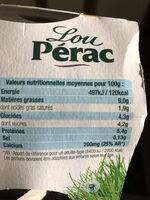 L'onctueux - Voedingswaarden - fr