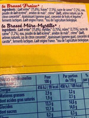 Le brassé - Ingrediënten - fr