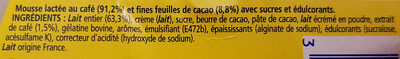 Feuilleté de mousse café - Ingrédients - fr