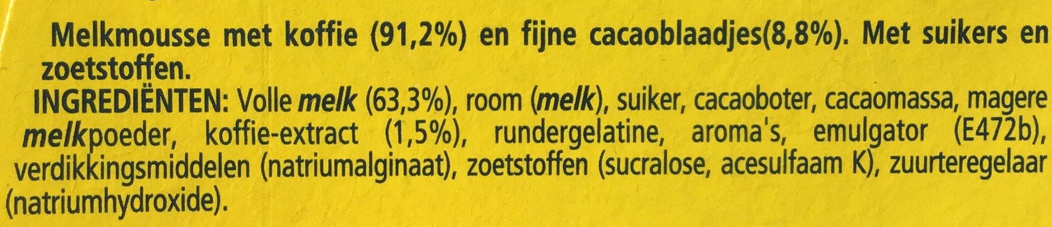 Feuilleté de mousse café - Ingrediënten - nl