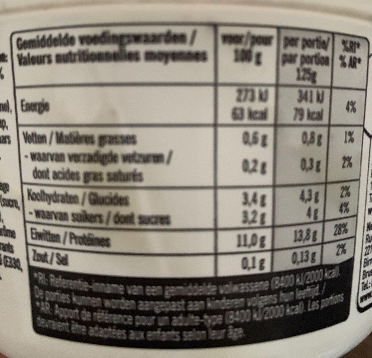 Kvarg stracciatella - Informations nutritionnelles - fr