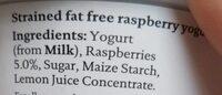 Raspberry Icelandic skyr - Ingredients