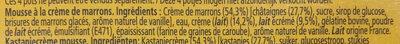 MaronSui's - Ingredients