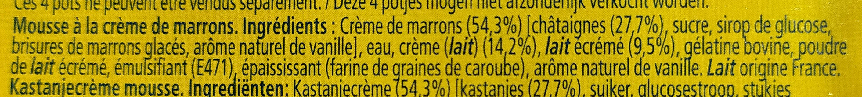 MaronSui's - Ingredients - fr
