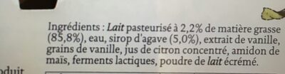 Siggi's Skyr Vanille - Ingredients