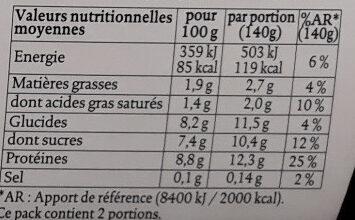 Siggi's Skyr Vanille - Nutrition facts