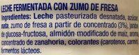 Fresa - Ingredientes