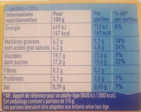 La Laitière Frais et Fondant Caramel au beurre salé 4 x 115 g - Informations nutritionnelles - fr