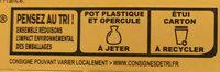 La Laitière Frais et Fondant Caramel au beurre salé 4 x 115 g - Instruction de recyclage et/ou informations d'emballage - fr